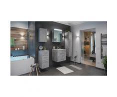 Set di mobili da bagno Firenze 60 (5 parti/C) grigio cemento ,armadio a specchio