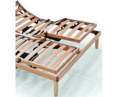 Evergreenweb Materassi&beds - EVERGREENWEB - Rete Matrimoniale Elettrica 140x200 a Doghe in Legno