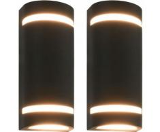 Lampade da Parete da Esterno 2 pz 35 W Nere Semicircolari VD27336 - Hommoo