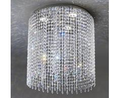 IKE LED Plafoniera con Pendagli in Cristallo D.50 Cm