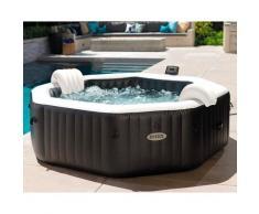 28458 piscina idromassaggio jet and bubble deluxe cm 201x71 con 140 getti pompa filtro telo - Intex