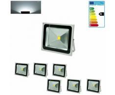ECD Germany 6 x 50W LED Faro a LED Faretto LED Proiettore LED per Esterno AC 220-240V 2840 Lumen