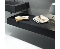 Mensola per lavabo da appoggio effetto Ardesia 130X50 cm realizzata in marmo resina Relax Design