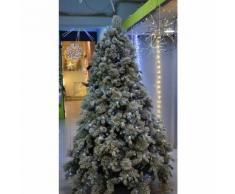 Albero di natale glitterato elbert 600 led bianco freddo con pigne cm.210 - Gtr