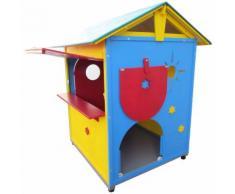 Party PlayHouse casetta chiosco con pavimento interno da gioco per bimbi realizzata artigianalmente