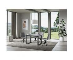 Itamoby S.r.l. - Tavolo Bandos piano Cemento 90x120 + 60 telaio Antracite