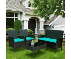 mobili da giardino dinette in polyrattan set da giardino in rattan set di mobili da balcone set 4