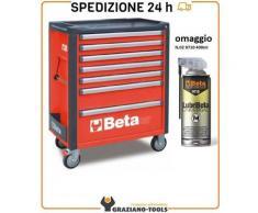 Cassettiera Mobile Con 7 Cassetti Rosso C37/7-R - Beta