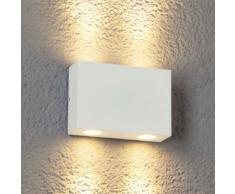 Applique parete Henor, bianco, a 4 luci, esterni
