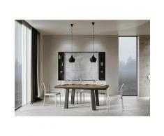 Itamoby S.r.l. - Tavolo Bridge Evolution piano Noce 90x160 allungato 420 telaio Antracite
