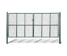 YOUTHUP Cancello a Rete per Giardino 415 x 250 cm / 400 x 200 cm - Verde