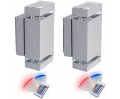 Etc-shop - Set di 2 lampade da parete telecomando Up Down nel set tra cui lampade a LED RGB