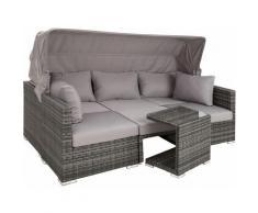 Lounge in rattan San Marino - set da giardino, set giardino, set giardino rattan - grigio