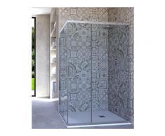 Box doccia angolare porta scorrevole 95x110 cm trasparente