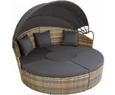 Tectake - divano prendisole in alluminio e rattan - rattan, rattan sintetico - naturale