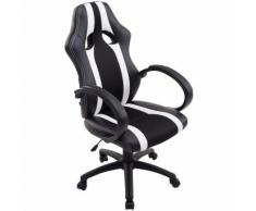 Paal Office Furniture - Sedia da ufficio racing Vettel in similpelle Nero/bianco