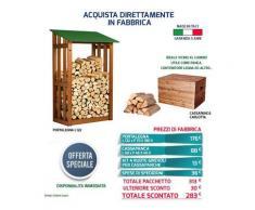 Acquista in Fabbrica Offerta Eccezionale Portalegna Legnaia + Cassapanca Panca Made in Italy AA