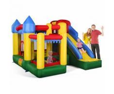 Castello Gonfiabile per Saltare e Rimbalzare con Palline e Super Scivolo incl.50 Pezzi Palla di