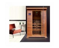 Sauna infrarossi due posti 120x115x190cm MANILA - Rivelenta