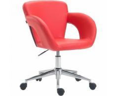 Sedia da ufficio Edison in similpelle Rosso