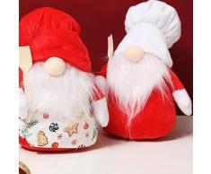 Chef di Natale scandinavo Tomte Nisse nano, elfo svedese, fattoria, mensola della cucina, vassoio a
