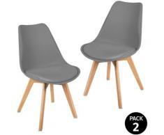 Pack di 2 sedie da pranzo, design moderno, sedie tulip per soggiorno, sala da pranzo, ufficio o