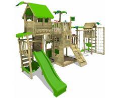 FATMOOSE Parco giochi in legno PacificPearl Giochi da giardino con altalena TowerSwing e scivolo