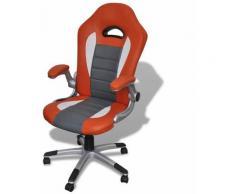 Sedia da Ufficio in Similpelle Design Moderno Arancione