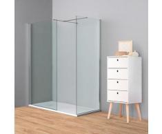 Doccia Walk-In angolare BERLINO 150x80 cm cristallo Trasparente Cromo (80+100)