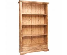 Libreria Credenza Vetrina in Legno massello con Ripiani per Soggiorno Ufficio