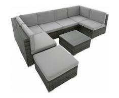 Salottino in rattan Venezia - arredo giardino, mobili da giardino, divani da esterno - grigio
