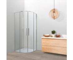 Box doccia OSLO doppia porta scorrevole semicircolare 80x80 cm altezza 200 cm cristallo 6 mm