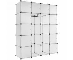 armadio modulare Anita - cabina armadio, armadio, armadio ante scorrevoli - bianco