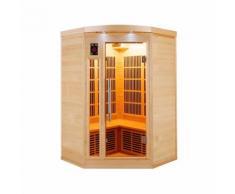 Sauna infrarossi angolare da 2 a 3 posti cm 120x120x190 MPCSHOP SN-APOLLON-2C