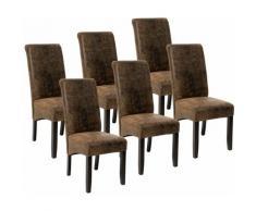 6 sedie da sala da pranzo con seduta ergonomica - sedie moderne, sedie sala da pranzo, sedie da