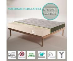 Kit Materasso 100% lattice a 7 zone differenziate con tessuto trapuntato Aloe Vera alto 20 cm +