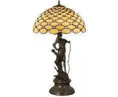 Lampada scultura in stile Tiffany 73 cm cm H73xØ41 Artedalmondo GM16782