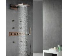 Composizione miscelatore doccia incasso termostatico rame - Celaya