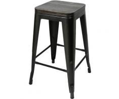Wyctin - Sgabello alto,seggiolone con seduta,un set di 6 pcs,nero,76,5 * 42,5 * 42,5 cm