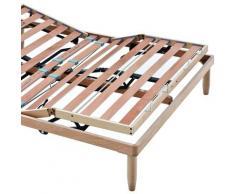 Evergreenweb Materassi&beds - EVERGREENWEB - Rete Matrimoniale Elettrica 170x200 a Doghe in Legno