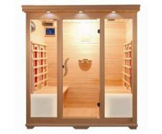 Essence Arredo Bagno - Sauna a Infrarossi in Legno per 4 persone 175x135 | Lusso