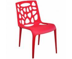Sedia cucina soggiorno STARK design in polipropilene SET 2 ROSSO Rosso