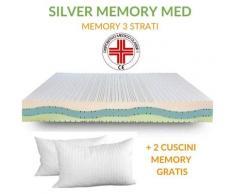 EVERGREENWEB - Materasso Singolo 80x200 in MEMORY FOAM Alto 20 cm Ortopedico con DISPOSITIVO