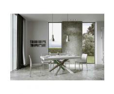 Itamoby S.r.l. - Tavolo Volantis Allungabile piano Bianco Lucido 90x180 allungato 440 telaio 4/A