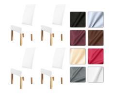 4 pezzi coprisedia in tinta unita proteggi sedia elasticizzato antiscivolo rimovibile lavabile per
