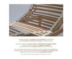 Qualydorm Rete letto una piazza e mezza in legno 130x200 h52 cm 24 Doghe Faggio Oscillanti Alzata