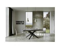 Itamoby S.r.l. - Tavolo Volantis Allungabile piano Cemento 90x160 allungato 420 telaio Antracite