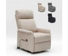 Le Roi Du Relax - Poltrona Relax Elettrica con Sistema Alzapersona e Ruote Per Anziani Giorgia |