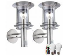 Etc-shop - Set di 2 rilevatori di movimento a distanza per lampade da parete per esterni, inclusi
