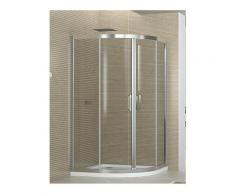 Box doccia semicircolare 80x80 cm opaco altezza 190 cm serie f